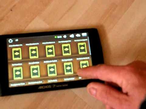 Archos 7 Home Tablet MP3-Player 8 GB E-Book , Touchscreen