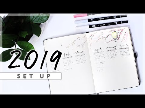 Bullet Journal Setup 2019 // My YEARLY Setup