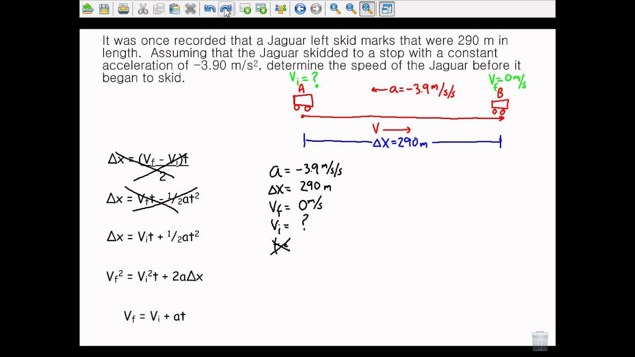 The Big Five Kinematic Equations Notes Video - YouTube