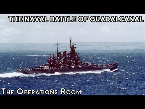 The Naval Battle of Guadalcanal 1942 - Animated