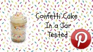 Test it Tuesday #1 confetti cake in a jar