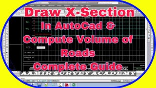 How to Draw Cross section in AutoCad Manually and Calculate Earth work Quantities