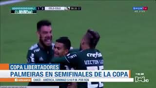 Miguel Ángel Borja marcó en la victoria de Palmeiras ante Colo Colo