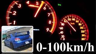 以前にも0-100km/h加速の動画を撮りましたが、その時はやんわりスタート...