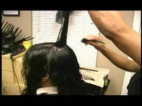 Cutting the First layer of Curly Hair