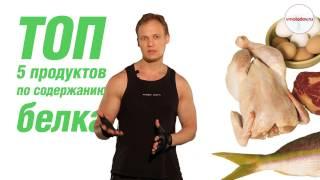 ТОП 5 продуктов по содержанию белка