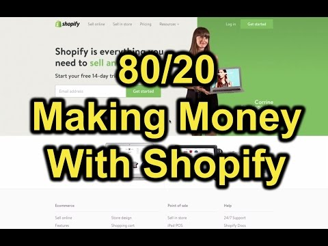 Setting up Shopify Store | How To Build Your Own Ecommerce Site & Online Store with Shopify (80/20)