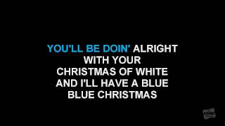 Blue Christmas in the style of Sheryl Crow singalong karaoke video lyrics