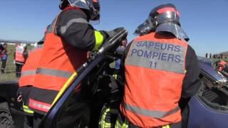SDIS de l'Aude - Exercices de désincarcération