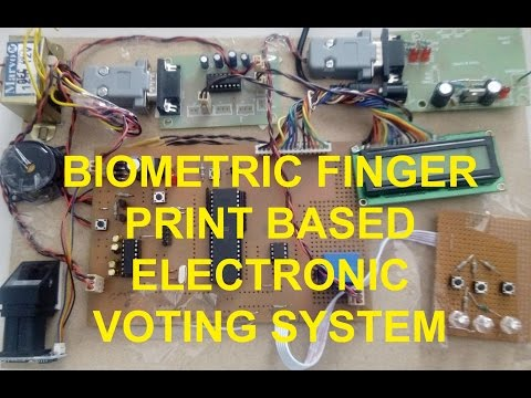 BIOMETRIC FINGER PRINT BASED ELECTRONIC VOTING SYSTEM FOR RIGGING FREE GOVERNANCE