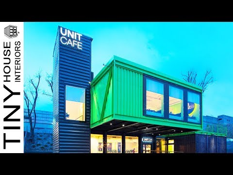 Modern Shipping Container Home in Kiev | Tiny House Interiors