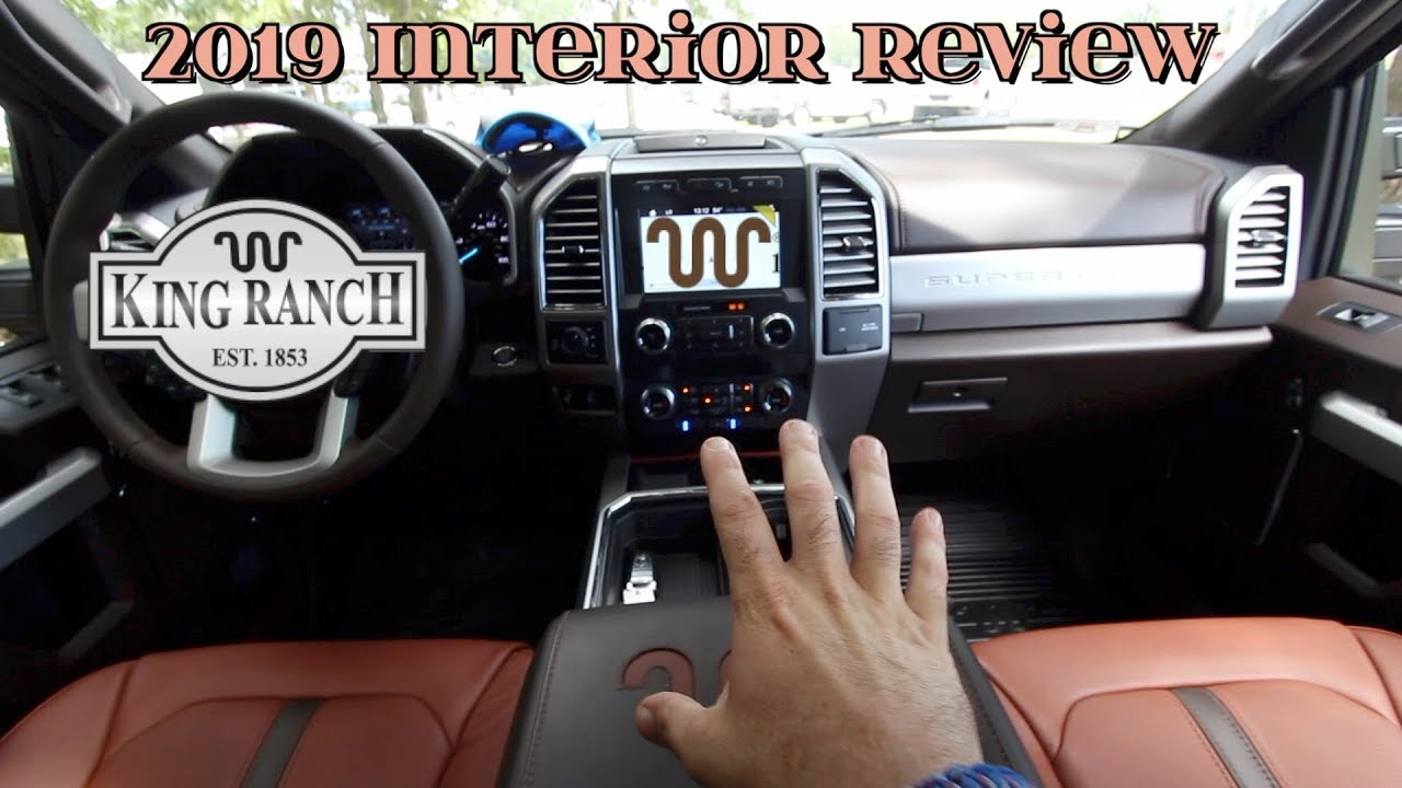 Super In Depth Interior Review | 2019 FORD F-250 KING ...