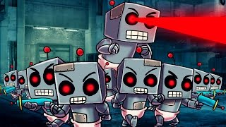 Minecraft | Who's Your Daddy Family? GIANT ROBO BABY ATTACKS! (Robot Baby Army)
