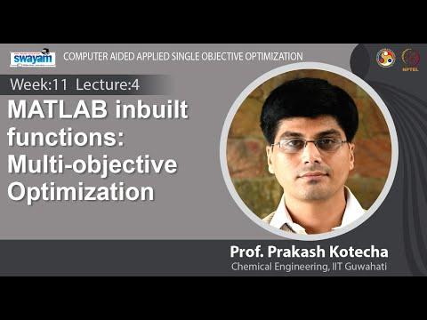 Lec 30: MATLAB inbuilt functions: Multi-objective Optimization