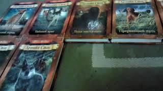 Обзор моей коллекции книг хроники стаи и тайна фонов под видео