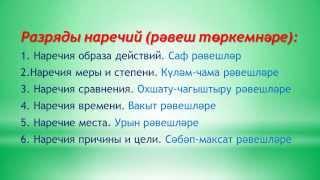 Уроки татарского языка  Урок 18  Рәвешләр