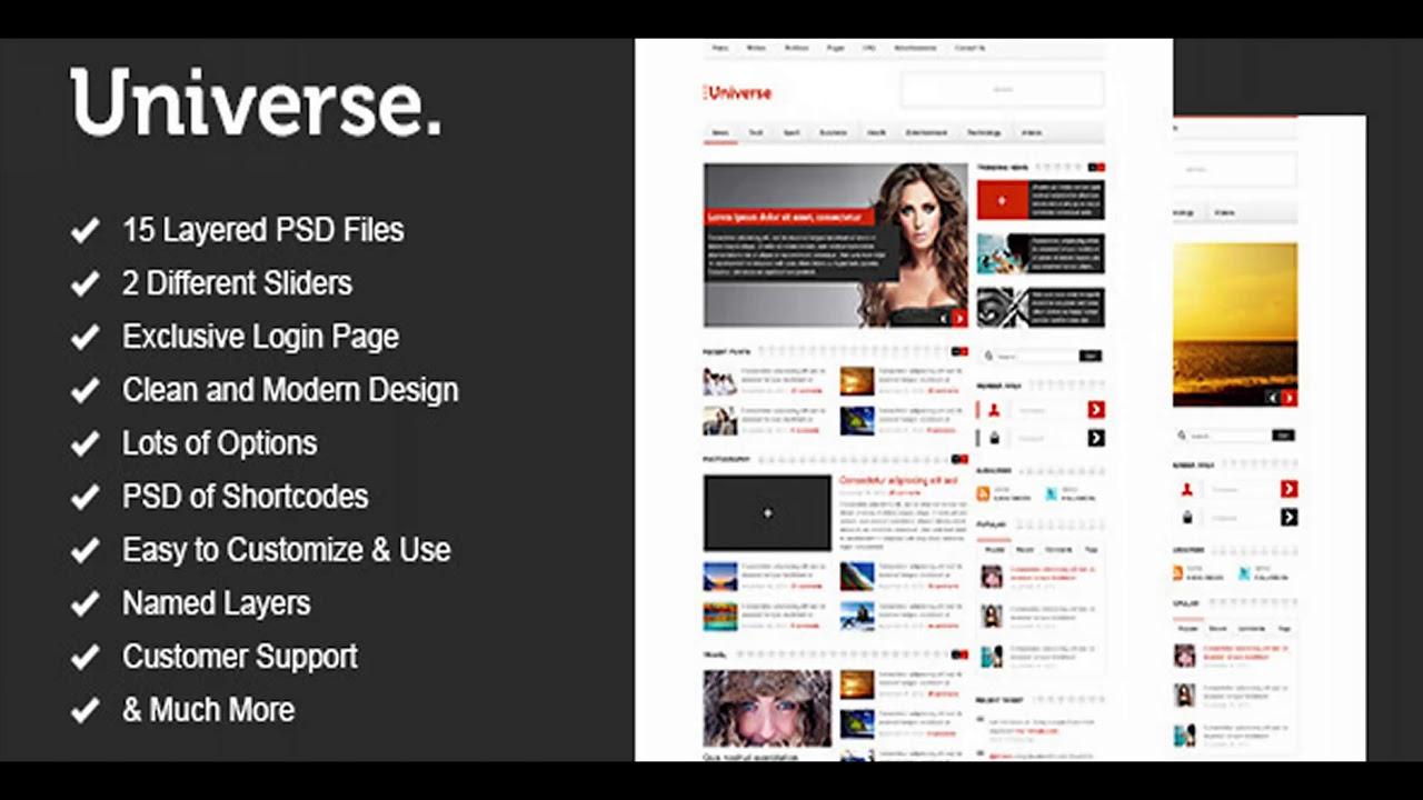 Universe - Premium News and Magazine PSD Template | Themeforest ...