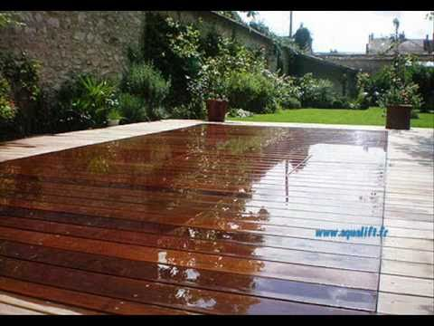 Aqualift piscine fond mobile montana palmya secret youtube for Piscine terrasse amovible
