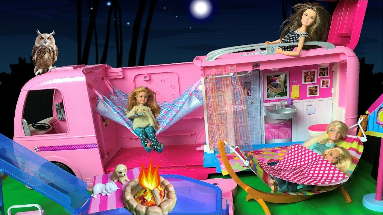 Barbie Doll Night Routine Camping Trip 2 Evening Routine