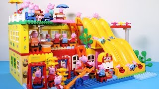 Peppa Pig House Creations With Water Slide Toys - Lego House Toys For Kids #7