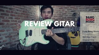 Review gitar squier stratocaster affinity surf green ( BANGBONG MUSIC )