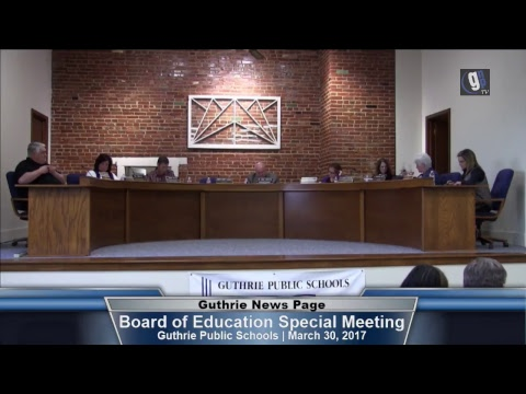 Guthrie BOE Special meeting