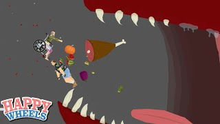 THIS B#TCH ATE ME!! [HAPPY WHEELS] [MADNESS!]