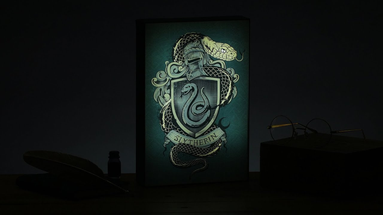 Harry Potter Slytherin Luminart Paladone Youtube