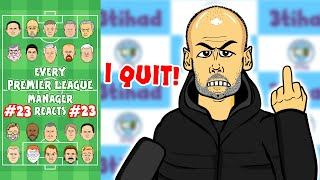 😱PEP QUITS!😱 #23 Every Premier League Manager Reacts! 19/20