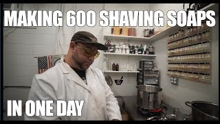 Making a Monster Batch of Shaving Soap