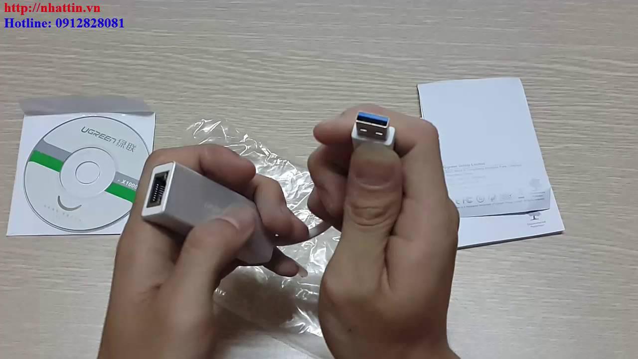 Cáp chuyển đổi USB 3.0 to Lan 10/100/1000Mbps Gigabit Ethernet Ugreen 20258 vỏ nhôm