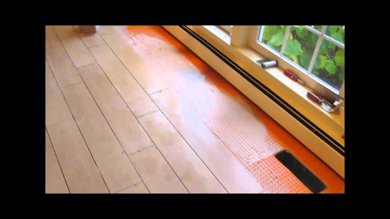 Ceramic tile wood look plank floor  YouTube