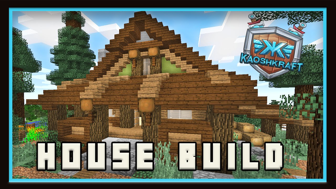Minecraft how to make a starter house in survival for How to build a house in a mountain