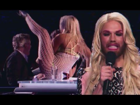 Прикол на шоу талантов (Britains got talent 2012)