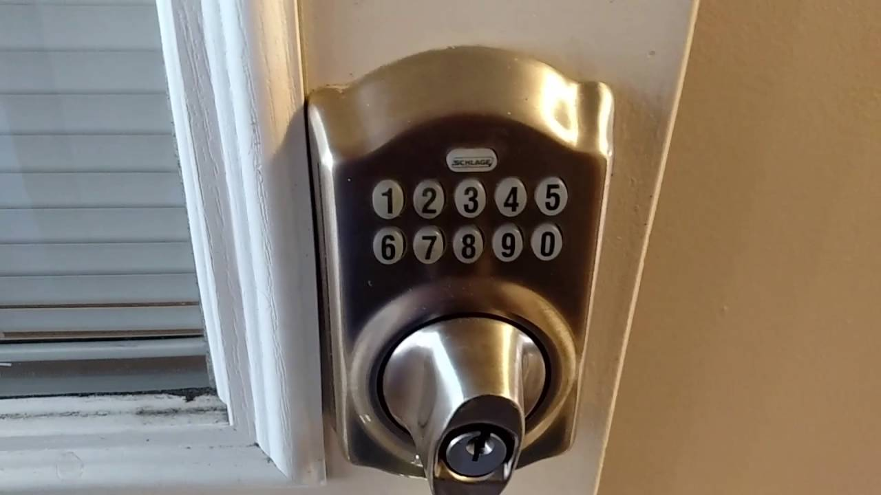 Programming Schlage Door Lock to Add and Remove Code Learn in 90 Seconds  YouTube