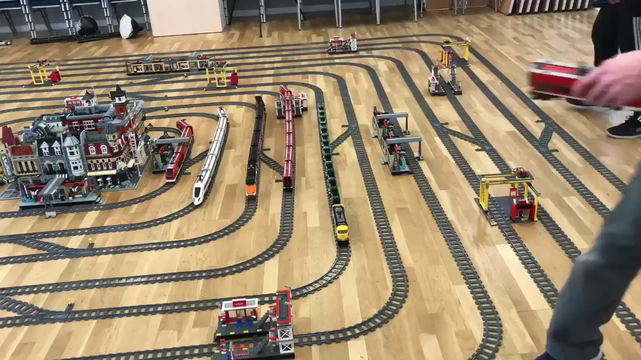 Mega Lego City Train Track Layout Timelapse Youtube