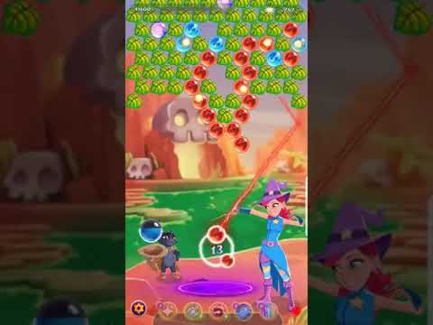 Bubble Witch 3 Saga Level 1444 ~ HARD LEVEL ~ NO CATS FIRE CHARMS or BOOSTERS