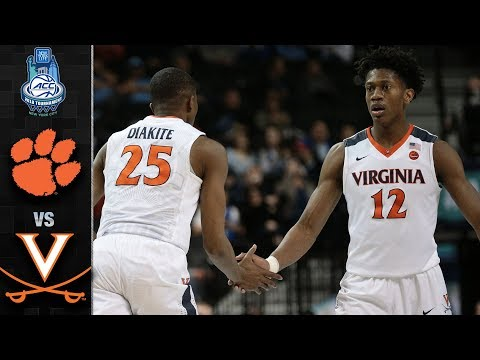 Clemson vs. Virginia Basketball Tournament Highlights (2018)