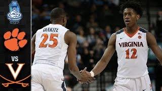 Clemson vs. Virginia Basketball Tournament Highlights (2018)