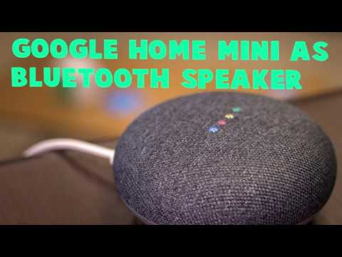 can i use my google home as a bluetooth speaker
