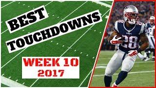 NFL Американский футбол лучшие тачдауны. 10 неделя. 2017