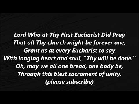 Lord Who at thy First Eucharist Did Pray communion text LYRICS WORDS BEST  SING ALONG SONGS