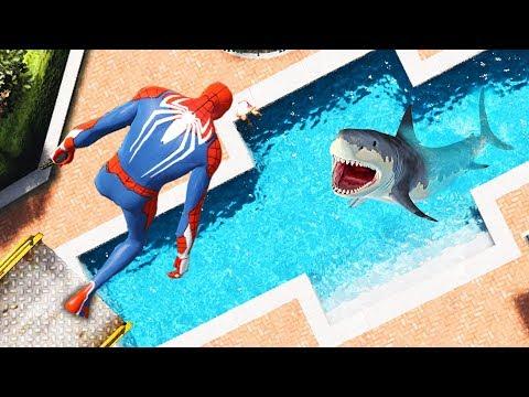 GTA 5 Spiderman Crazy Parkour Fails #10