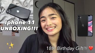 IPHONE 11 UNBOXING (18th Birthday Gift! ❤️) | Philippines | Ky Santos