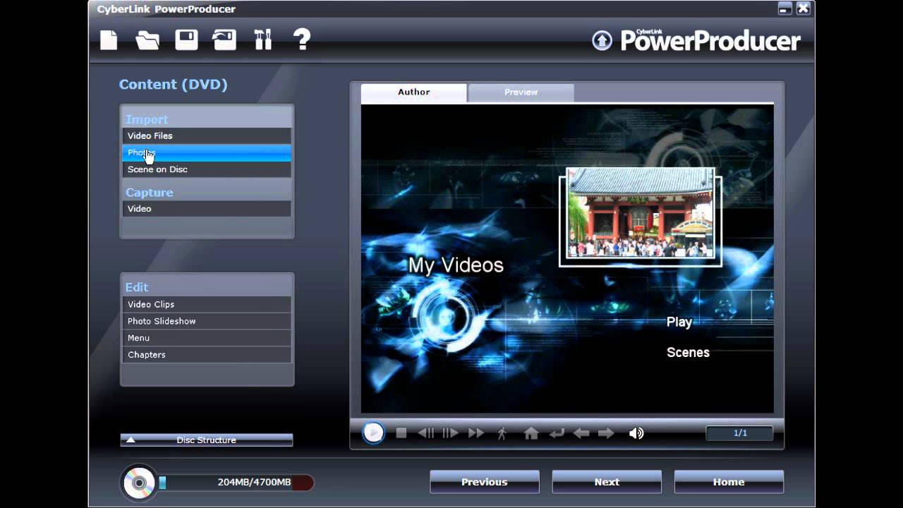 how to add background music in cyberlink powerdirector 13