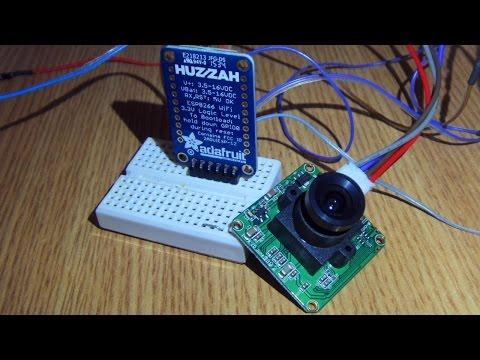 LinkSprite JPEG camera + ESP8266 (with NodeMCU) + RoboRemo app