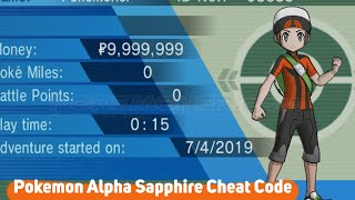Pokemon Alpha Sapphire Cheat Code on Citra Emulator - Pokemoner.com