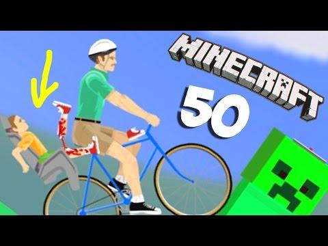 КРИПЕР СЛОМАЛ ВЕЛОСИПЕД!!! - Happy Wheels 50 (Карты Minecraft)