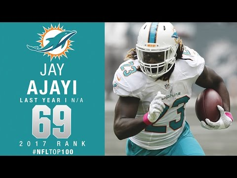 #69: Jay Ajayi (RB, Dolphins) | Top 100 Players of 2017 | NFL