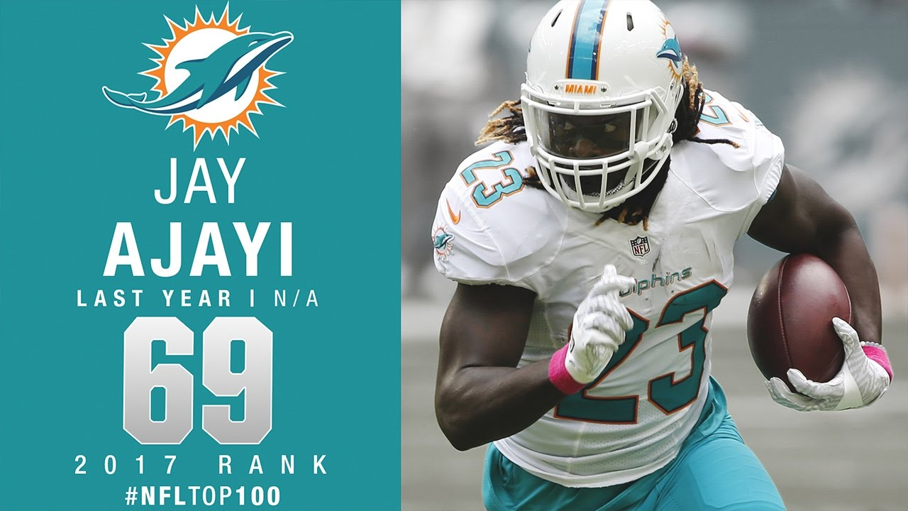 69 Jay Ajayi RB Dolphins Top 100 Players of 2017